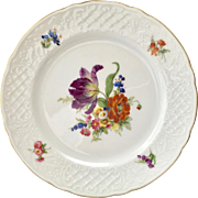 Schumann Dresden Bouquet Embossed Lattice Rim Salad Plate