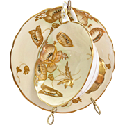 Royal Stafford Bone China 8579 Gold Encrusted Cabinet Teacup and Saucer