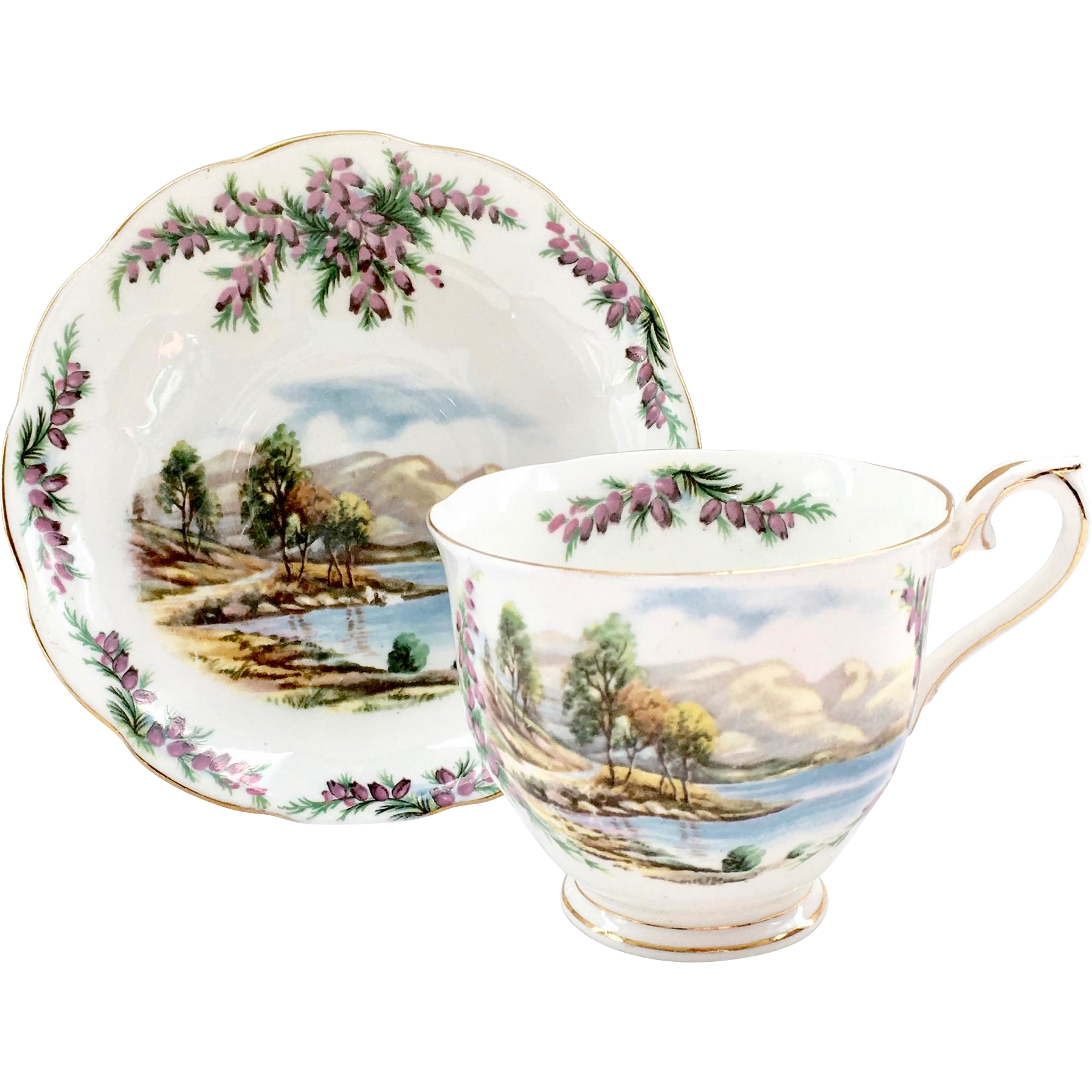 royal albert bone china traditional british songs series road to the isles scenic teacup and saucer
