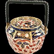 Arthur Wood & Sons Gaudy Welsh type Octagon 24 England Imari Colors 1015 Biscuit Jar