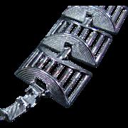 Sarah Coventry Silver-Toned Cubist Bracelet