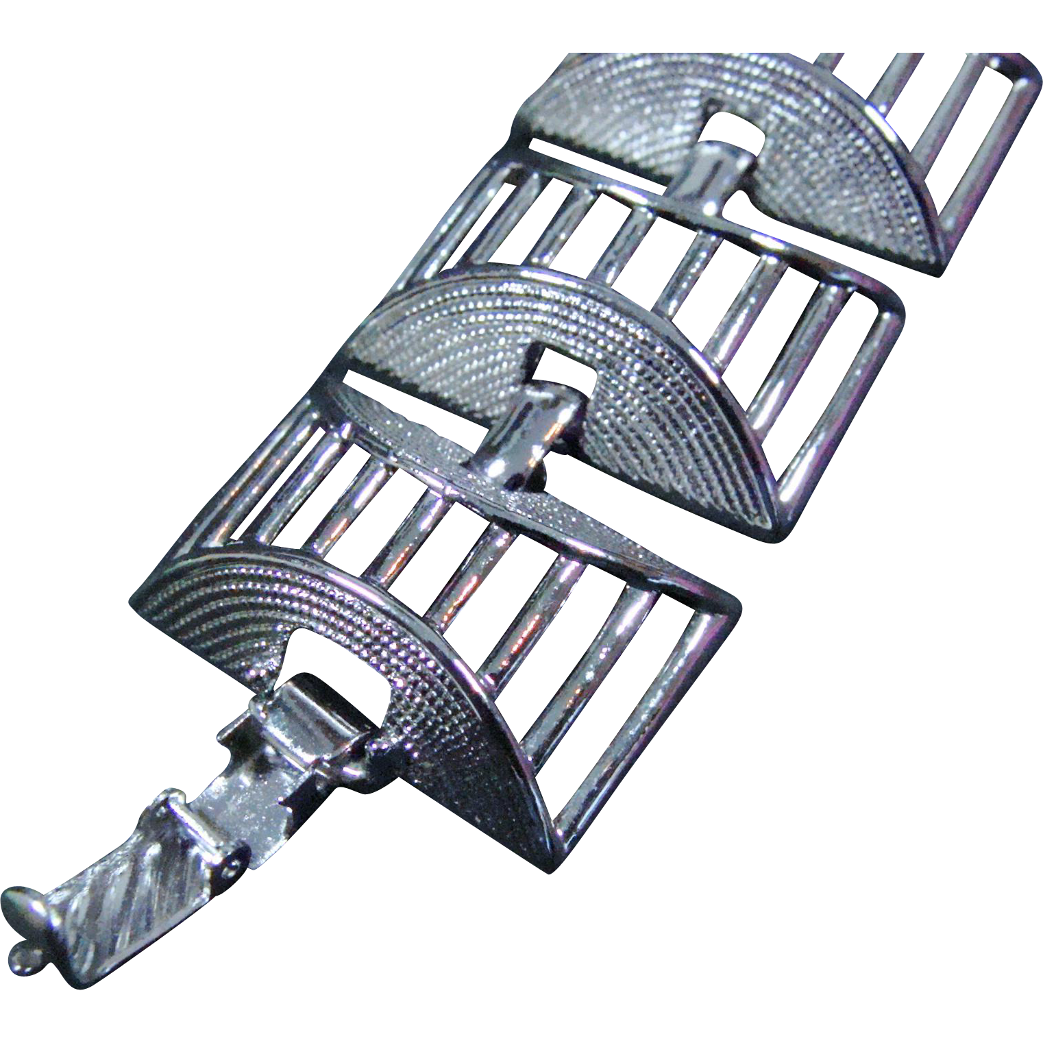 Sarah Coventry Silver-Toned Cubist Bracelet