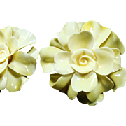 Flower Power Plastic Petals 1960's Fashion Earrings