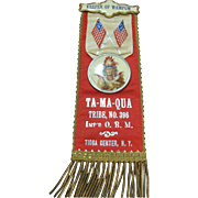 Order of Red Man Wampum Ta-Ma-Qua Badge