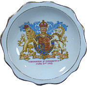Queen Elizabeth II Royal Albert Bone China Pin Tray