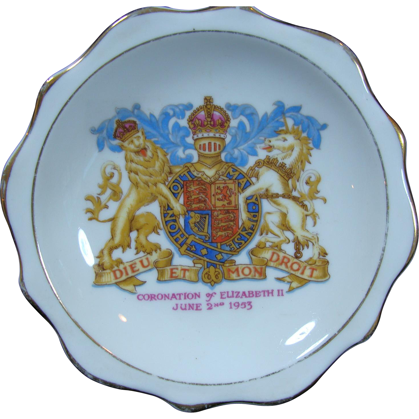 Queen Elizabeth II Royal Albert Bone China Pin Tray