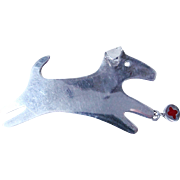 Anne Harvey Mexico Sterling 925 Pin/Brooch Running Dog