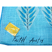 Hanky Faith Austin Mid-Century 1950's Original Label