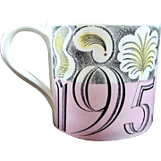 ON HOLD FOR IAN 1953 Coronation Queen Elizabeth Designer Eric Ravilious Mug Cup 1953  British Royalty