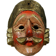 Guatemala Handcrafted Folk Art Mask - Red Tag Sale Item