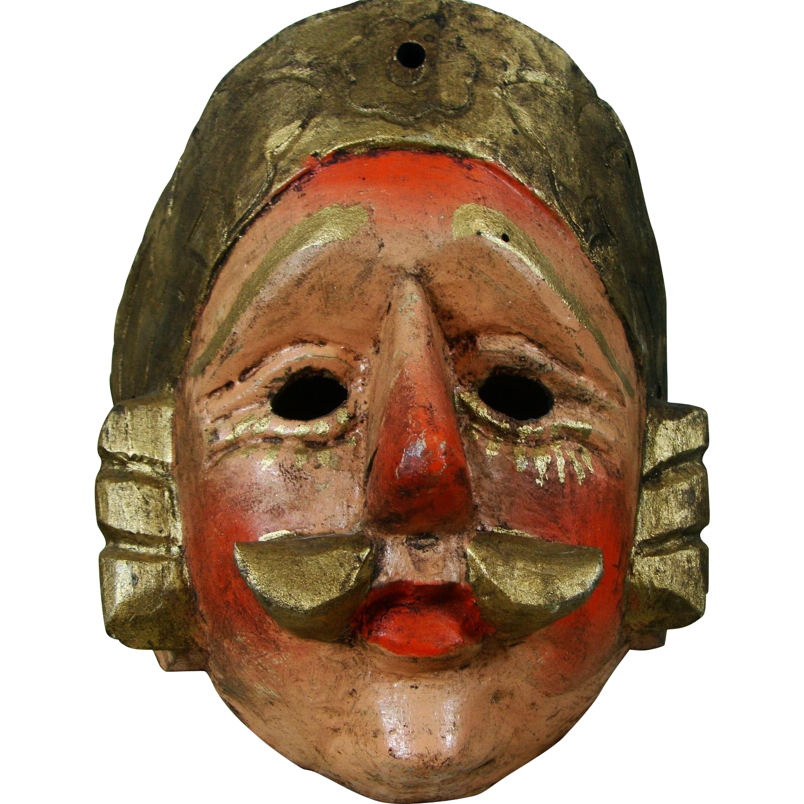 Guatemala Handcrafted Folk Art Mask