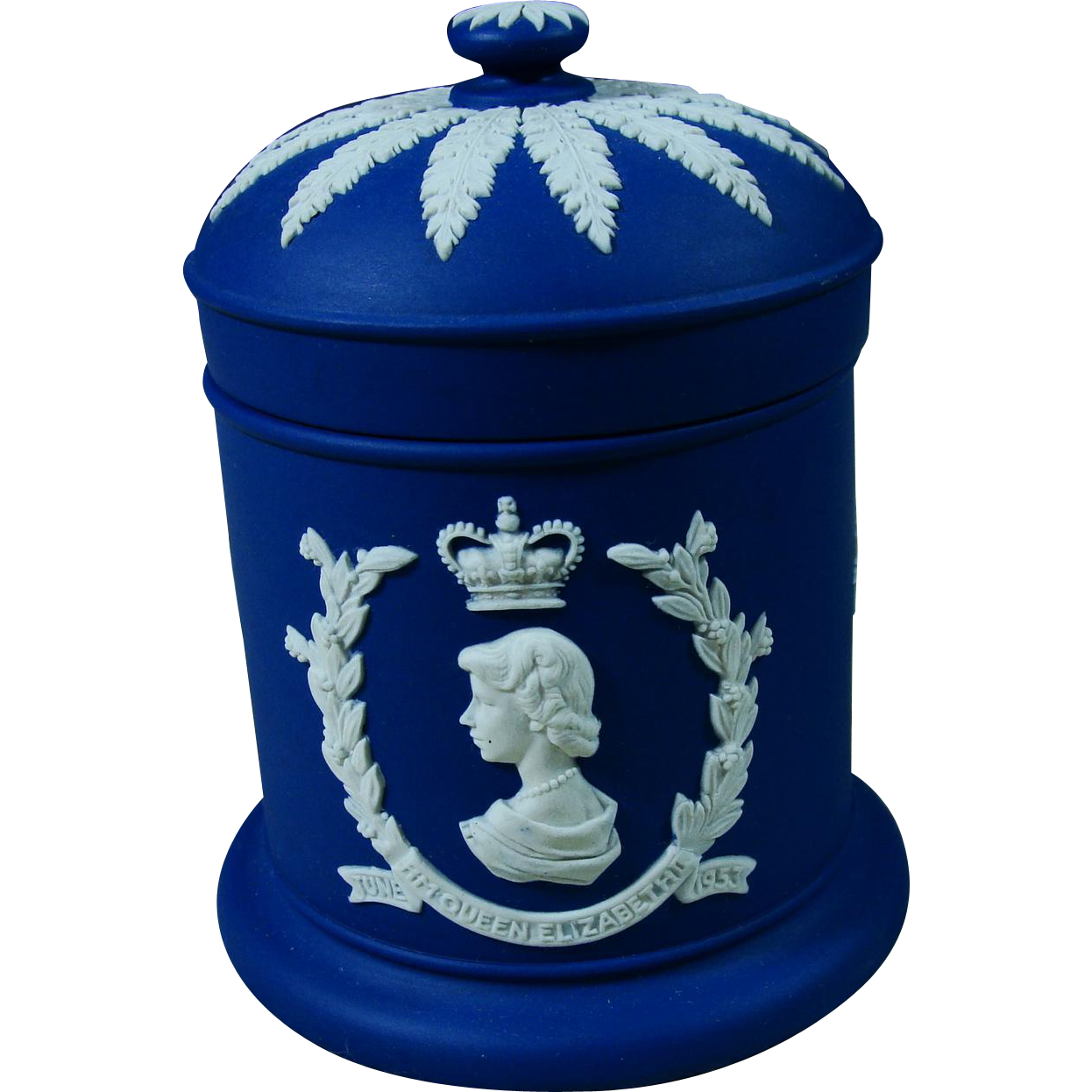 1953 Royal Blue Jasperware Wedgwood