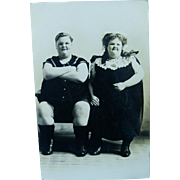 Real Photo Postcard Chubby Twins