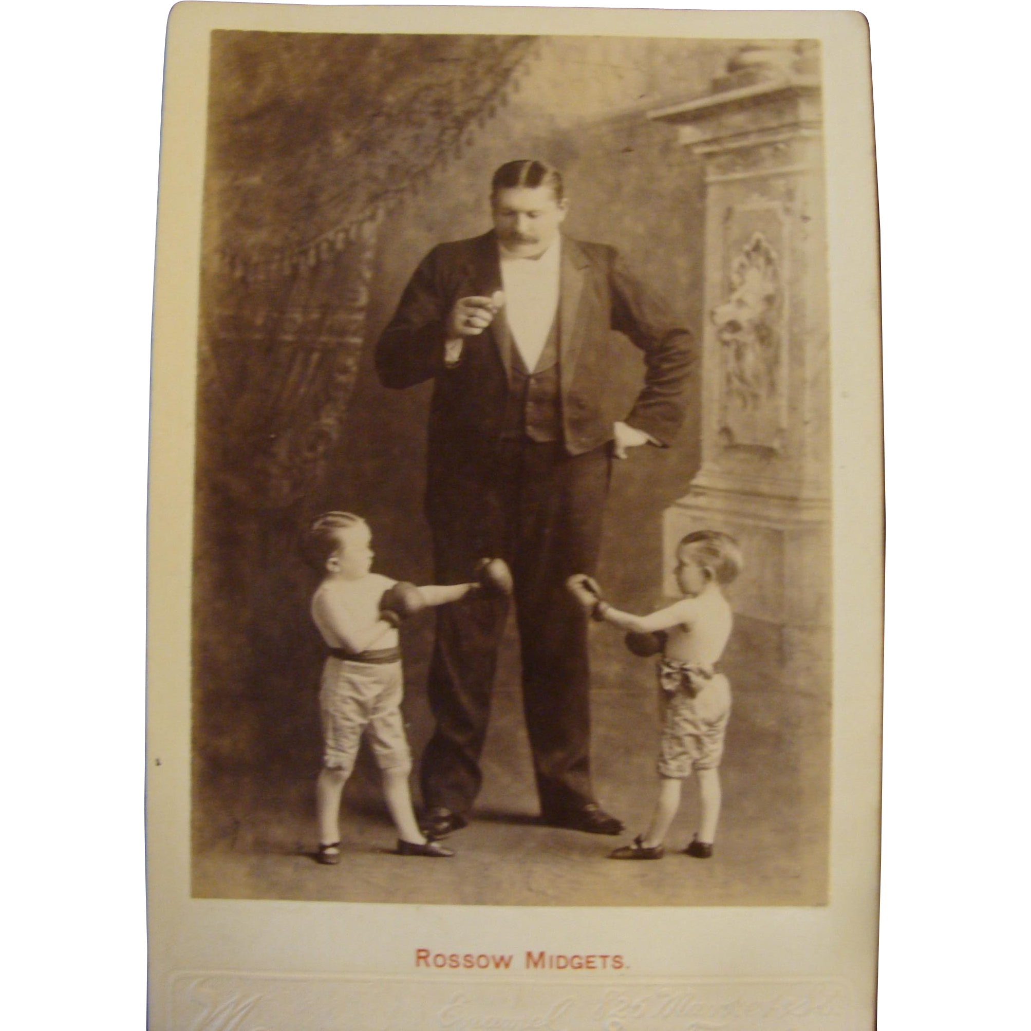 Cabinet Card Photo Rossow Midgets