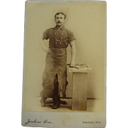 Occupational Cabinet Card Wyoming Blacksmith