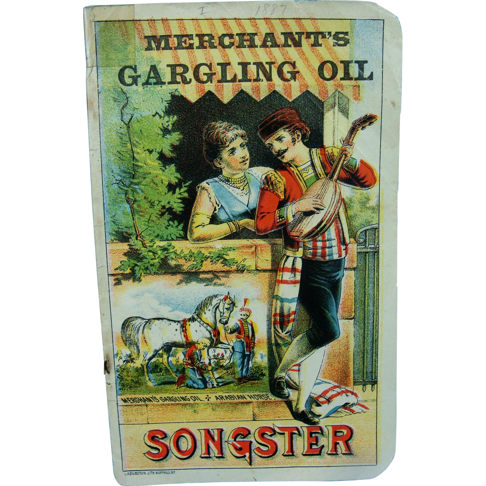 Merchant's Gargling Oil Songster Advertising Booklet