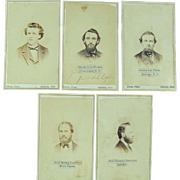 CDV's  5 Images From 1866 Hillsdale College