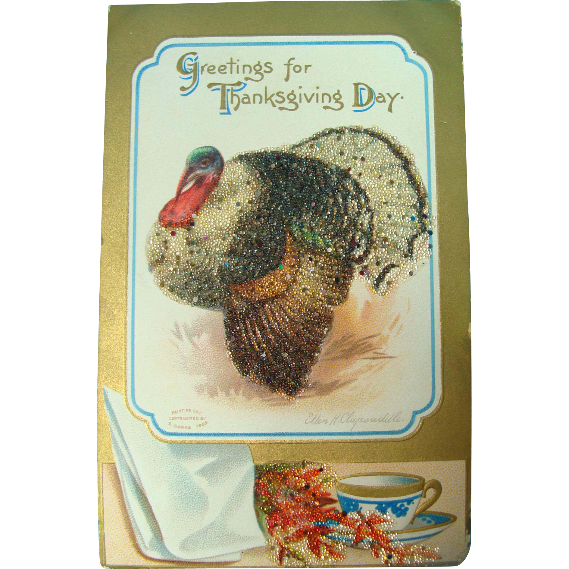 Big Fat Sparkling Turkey Postcard