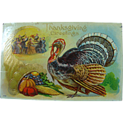 Thanksgiving Postcard Grumpy Ole Tom Turkey For Dinner