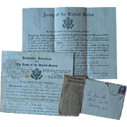 1932 U.S. Military Papers Enlistment Discharge Letter