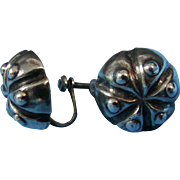 William Spratling Designer Silver Mexico 1940s Earrings