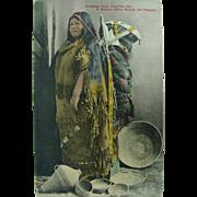 Sierraville CA Postmark 1909 Postcard Washoe Indian