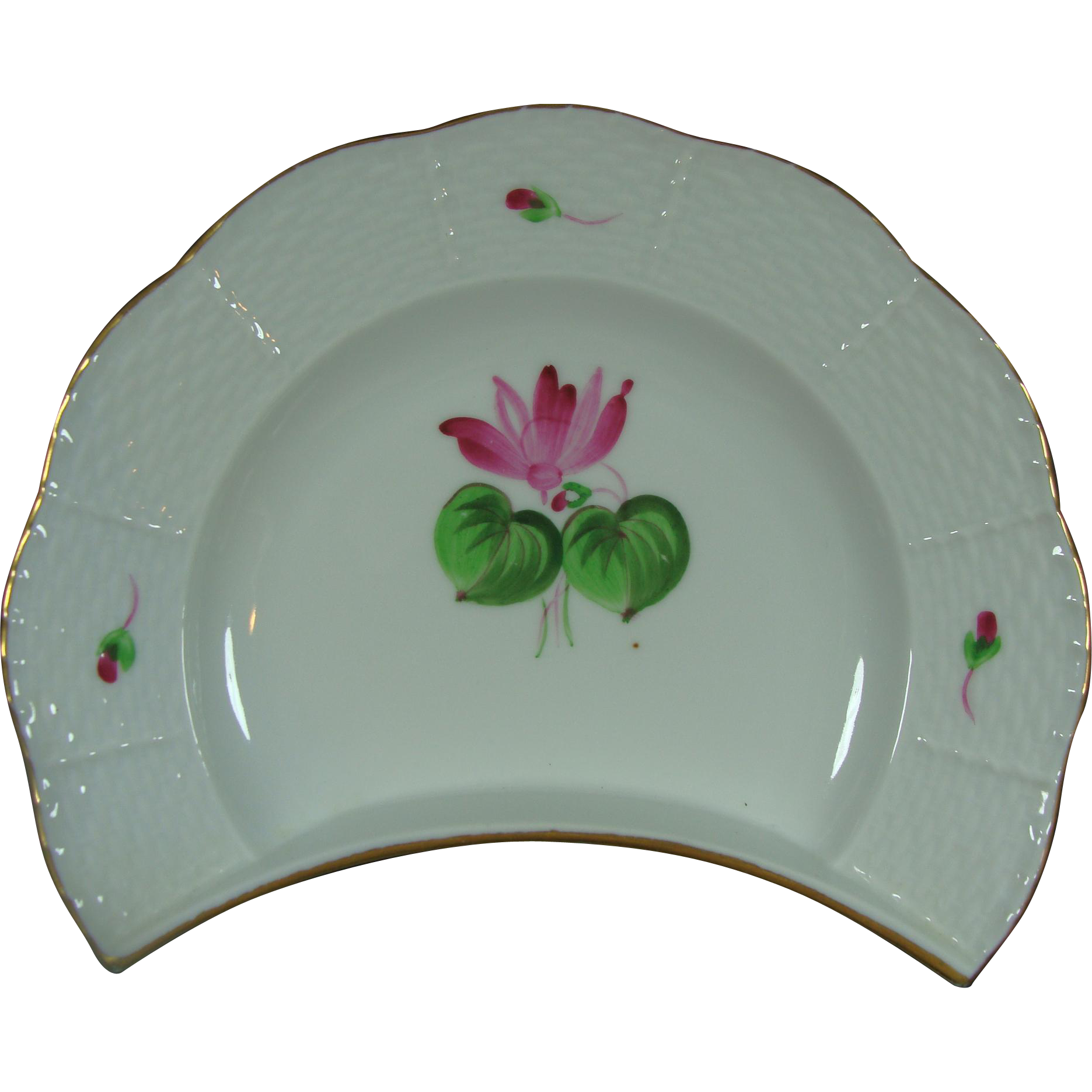 Herend Side Plate Pink Posey Plate