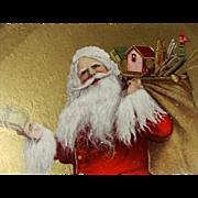 Jolliest Ole Saint Nick Postcard 1909