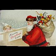 Ellen Clapsaddle Undivided Back Christmas Postcard