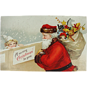 Ellen Clapsaddle Undivided Back Christmas Postcard