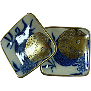 Pair Butter Pats Doulton Burslem Persian 1890