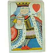 1879 Playing Card Tiffany Harlequin King of Hearts