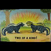 WWII Political Joke Post Card