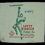 Lefty O'Doul's Cocktail Bar Paper Napkin