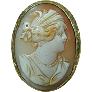 19th Century Shell Cameo 14K Setting