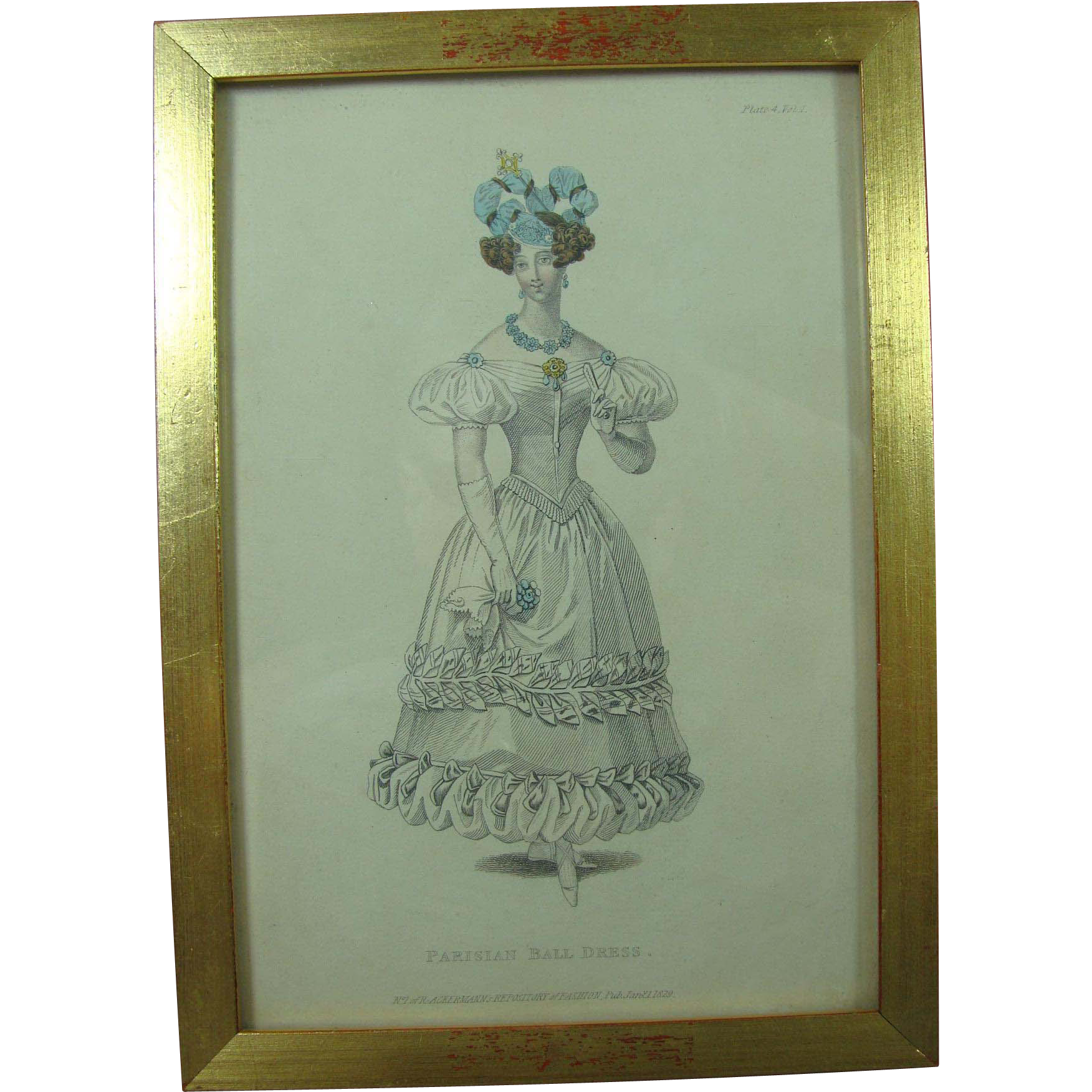 Ackermann's Repository of Fashion Plate 1829