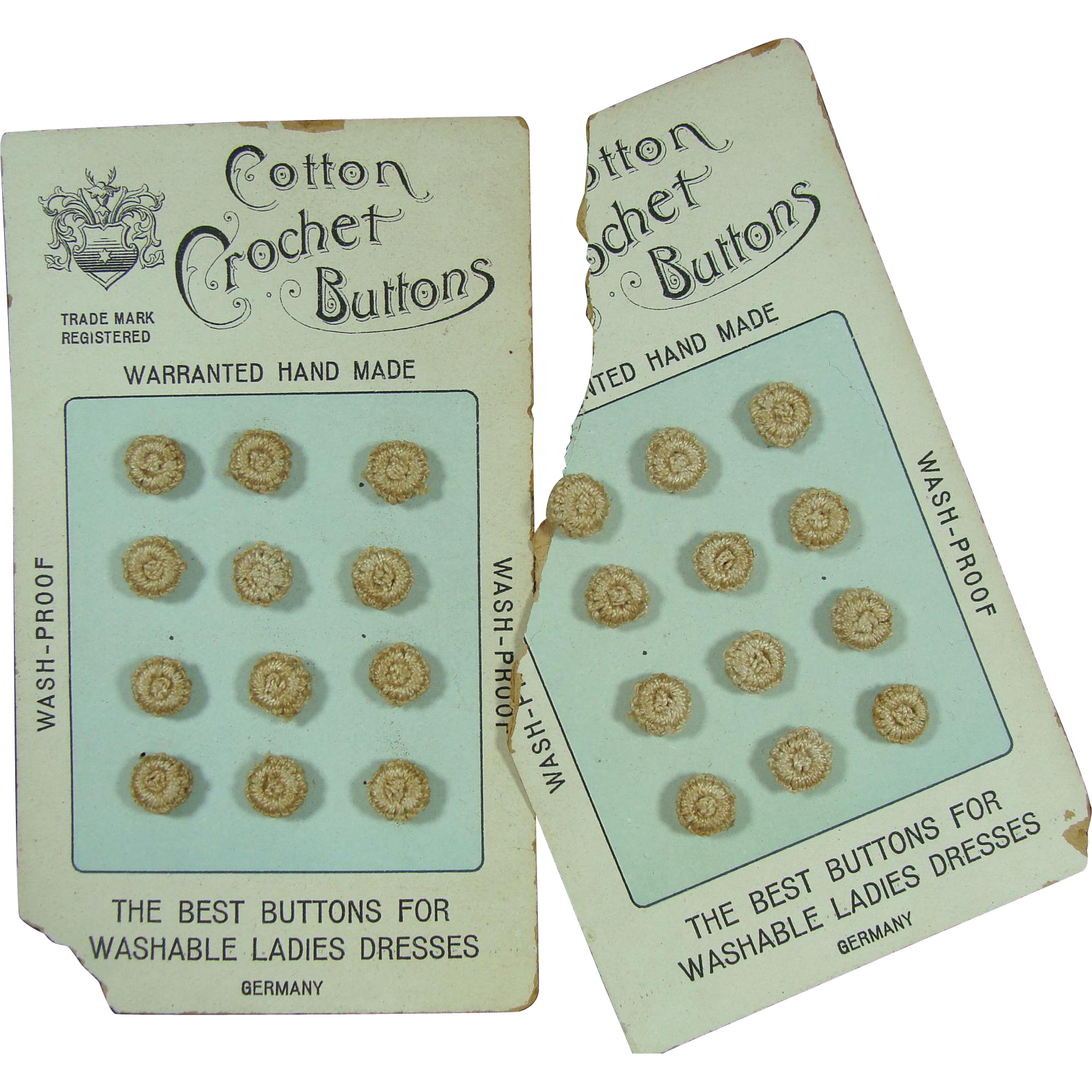 Buttons Vintage Hand Crocheted Washable