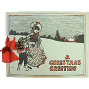 Christmas Greeting Card Booklet Kate Greenaway Style