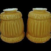 Pair Pendant Cased Glass Shades