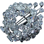 1950s Brooch/Pin Brilliant Rhinestones