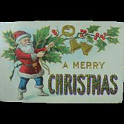 Merry Christmas Santa in Blue Pants