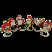 Santa Band 1950s Japan Spun Cotton