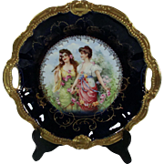 Zwei Fraulein Wonderful German Bavaria Cabinet Plate