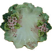Ruffled Edge Floral Porcelain Candy Dish