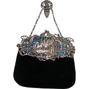 English Sterling Silver Edwardian Bag Chatelaine  Wm Comyns & Sons Ltd London