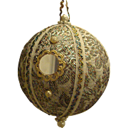 Ornament Glittery Glitzy Sparkling Mid Century Jumbo Orb Mirrors