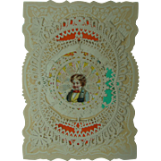1870s Paper Lace Valentine Rare George Whitney Company