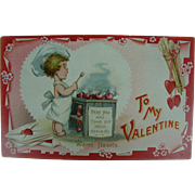Tuck's Valentine Post Card For The Chef Warm Hearts
