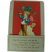 Vintage Fold Out Valentine Greeting Card Circa 1900