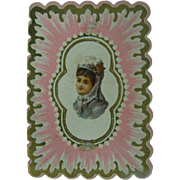 Antique Valentine Circa 1870's Sweet Message Artist Binton